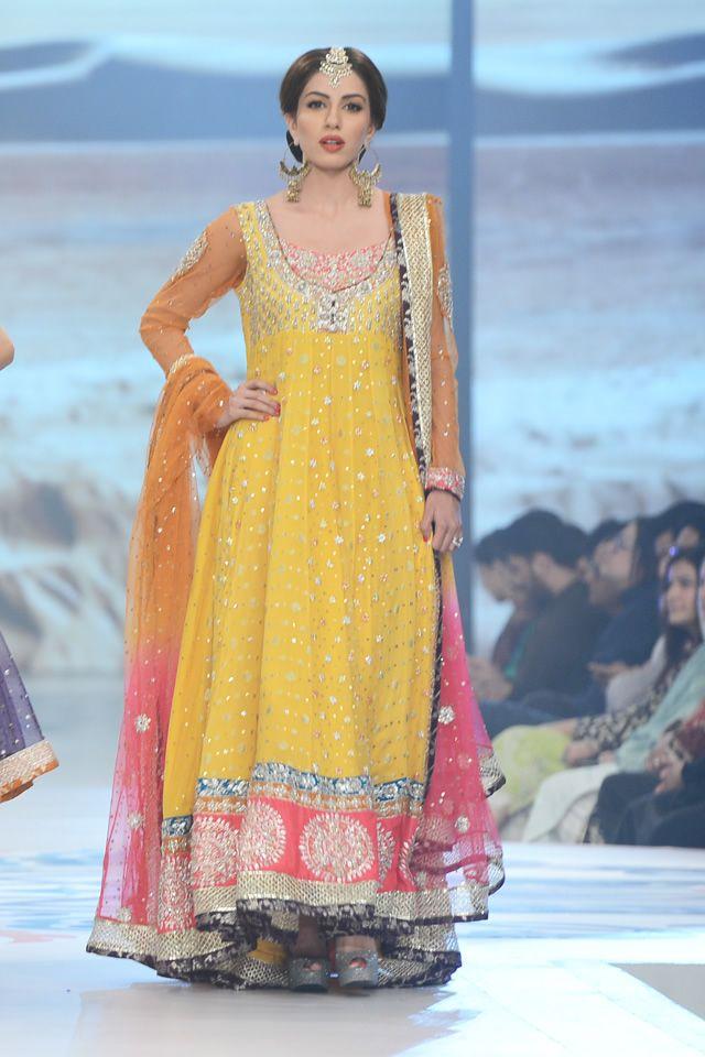 Anarkali by Zainab Chottani at 2014 Bridal PBCW Collection