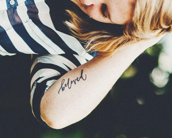 Custom Calligraphy Tattoo Design by shopbelovedpaper on Etsy, $85.00
