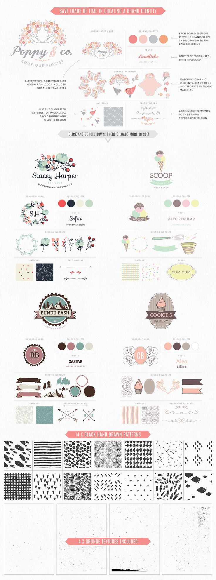 Essential Branding & Identity kit by Lisa Glanz on Creative Market