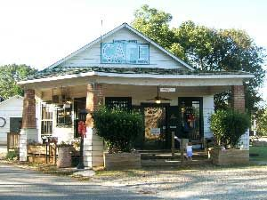 """The Whistle Stop Cafe in Juliette, GA  Film location of """"Fried Green Tomatoes"""". The cafe played a major role as """"The Whistle Stop Cafe"""" in the movie.  Excellent fried green tomatoes and pecan cobbler!"""
