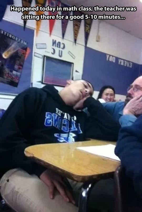 Sleeping in math class…