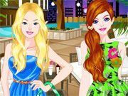Free Online Girl Games, Barbie and Ellie are headed towards a fun spring break vacation but they will need to look their best for their trip!  Help Barbie prepare for a week at the beach by giving her a complete facial makeover and then finding a perfect outfit for her night out!  See what kind of styles and creative outfits you can create!, #barbie #ellie #spring #break #summer #dressup #makeover #dress #girl