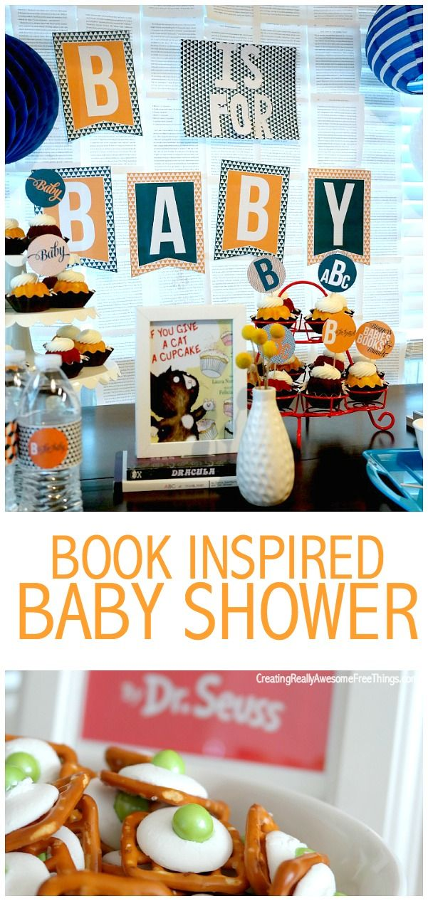 B is for baby, book, and brunch! Cute ideas for a book themed baby shower!