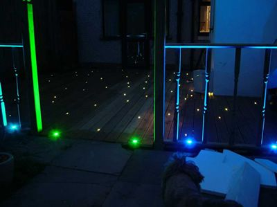 Fibre optic stars twinkle in this decking.