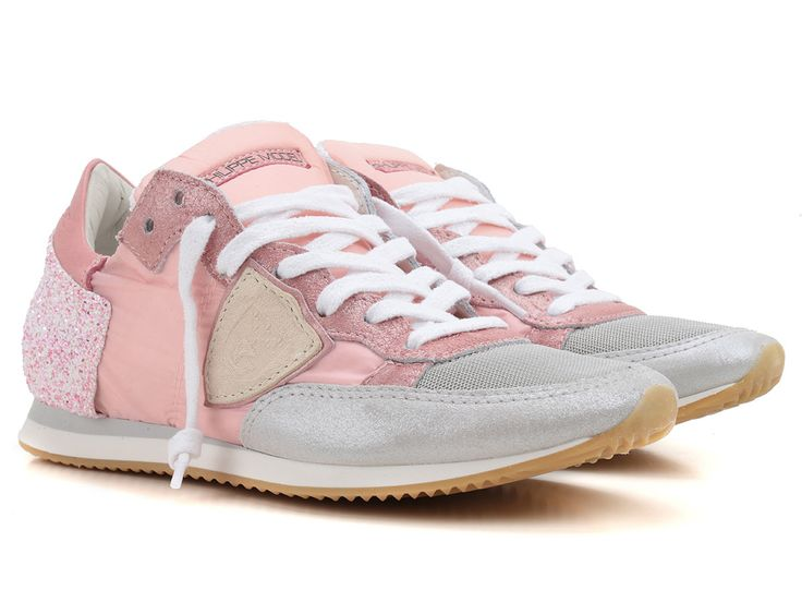 Philippe Model women's sneakers in pink Leather Fabric - Italian Boutique €150