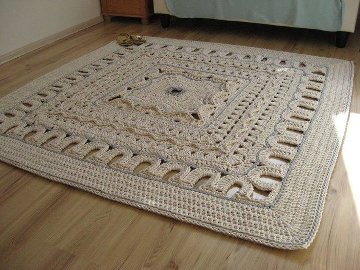 Gorgeous Crocheted Carpet Website is Russian, but there is lots of pictures & the pattern is written in English.