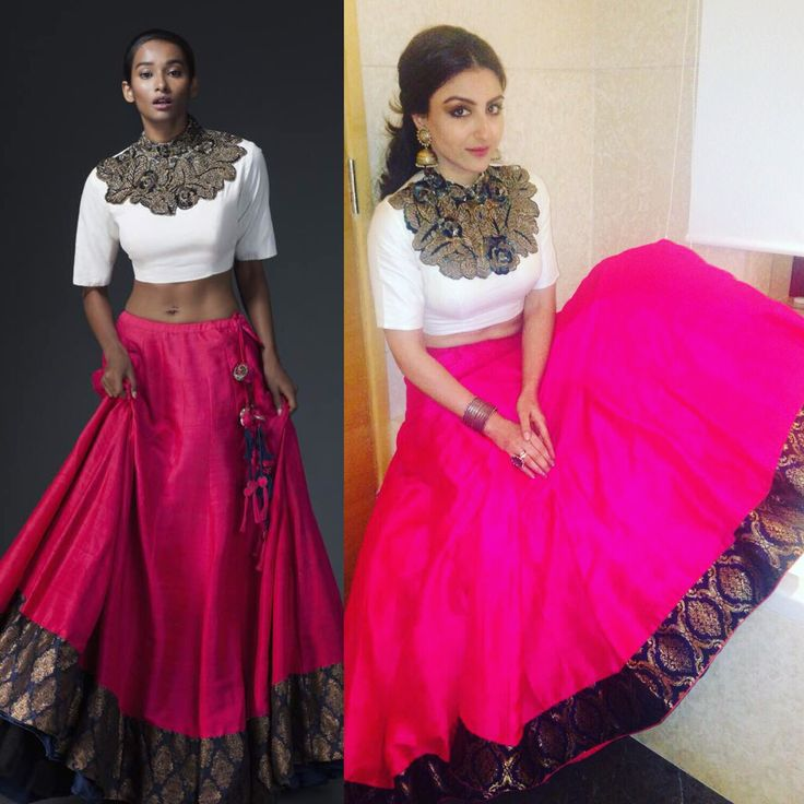 Get the Look: Soha Ali Khan looked ravishing in this raani pink and ivory embroidered lehenga by Saaksha & Kinni. Shop at Aza, Altamount.  #CelebrityStyle #SohaAliKhan #Saaksha&Kinni