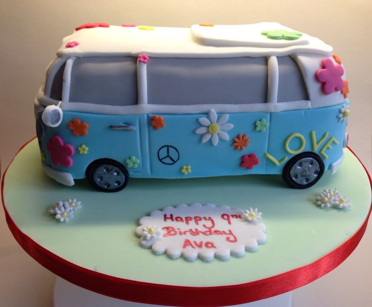 Hippy vw cake                                                                                                                                                                                 More