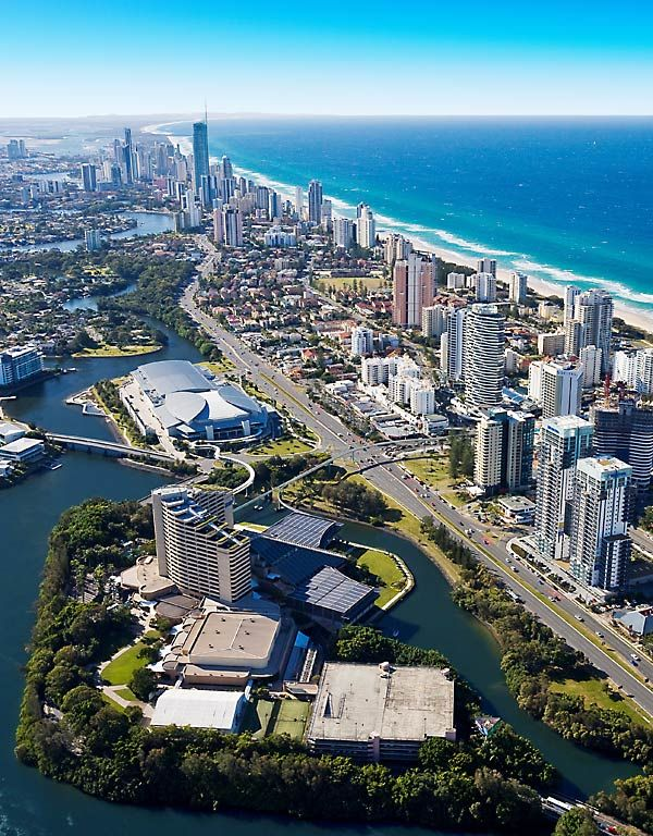 Jupiters Casino up to Surfers Paradise. If you fancy a flutter at the casino? well you can do that too.