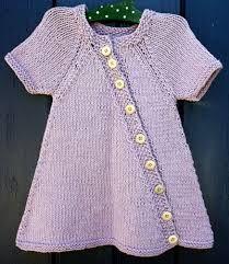 Billedresultat for opskrift strikket kjole barn