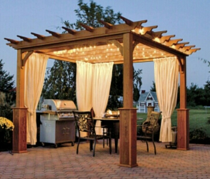 Lighted pergola with privacy panels yard pinterest for Trim a home decorations