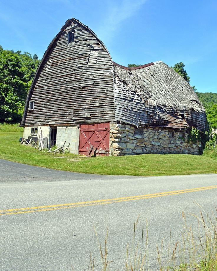Old Barn On Mayhew Inn Road In Garrett County Maryland