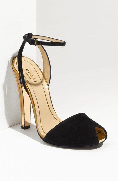 Gucci Ankle Strap Peep Toe Sandal