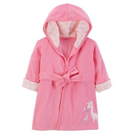 Baby Girls' Pink Giraffe Robe - Just One You™Made by Carter's®