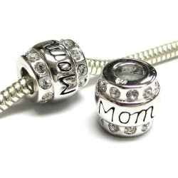 "Mother Pandora Charms  You do not need a holiday to get you dear mother a Pandora Bracelet Charm. These Mother Pandora charms are the perfect way to just say thank you. You can get her a Pandora bead for all kinds of different things, a coffee mug charm because she likes coffee, a Cruise ship charm for the cruise she went on, a Christmas or Thanksgiving charm, the list goes on and on. These Pandora style mother charms do not say anything like that, they simple say, ""Thanks"" for being mom."