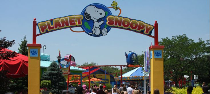 Planet Snoopy Overview Slide- Take the kids to visit Planet Snoopy at Kings Island. Planet Snoopy is filled with rides for kids and mascots for them to meet and take pictures.