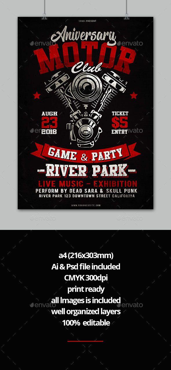 motorcycle flyer best event flyer templates flyer template