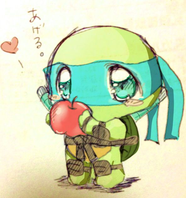 TMNT Chibi-nardo seems like by curamix666.deviantart.com on @deviantART