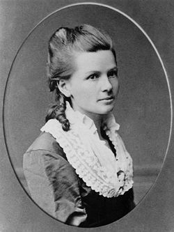 Bertha Benz (help·info) (née Ringer, 3 May 1849 – 5 May 1944) was a German automotive pioneer. She was the wife and business partner of automobile inventor Karl Benz. In 1888, she was the first person to drive an automobile over a long distance.[1] In doing so, she brought the Benz Patent-Motorwagen worldwide attention and got the company its first sales.