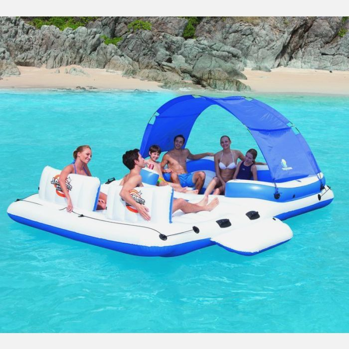 122 best images about piscine accessoires on pinterest play pool river tub - Ile flottante gonflable ...