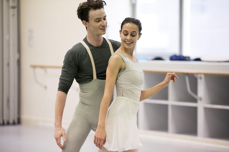 Jarryd Madden and Dimity Azoury rehearsing Christopher Wheeldon's Alice's Adventures in Wonderland©. Photography Lynette Wills
