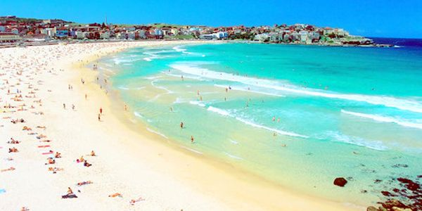 The Bondi Beach  This beach is one of the most popular tourist attractions of Sydney. The soft sand is delightful and pleasurable for anyone who wishes to enjoy a walk along the exotic beach. Bondi beach is one of the preferred family destinations, thanks to the moderate surfs.