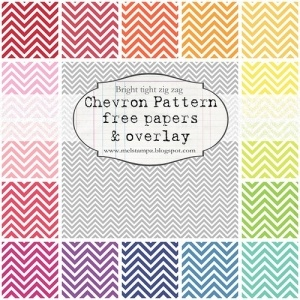 FREE chevron pattern printables by alexandra