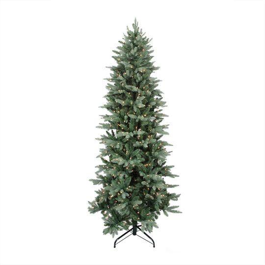 9 Ft. Pre-Lit Washington Frasier Fir Slim Artificial Christmas Tree, Clear Lights