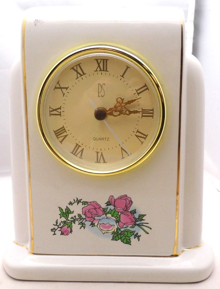 PS Ceramic Desk Mantel Clock w/Pink Roses LIMITED EDITION 1996 RARE WORKS | eBay.  I paid $1.75