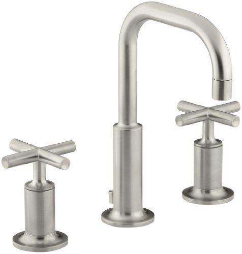 KOHLER K-14406-3-BN Purist Widespread Lavatory Faucet with Low Gooseneck and Low Cross Handles, Vibrant Brushed Nickel Kohler,http://www.amazon.com/dp/B000MF52L0/ref=cm_sw_r_pi_dp_z5sdtb1ADV0TNNK3