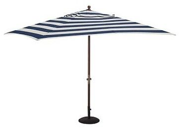 Rectangular Umbrella Canopy Replacement, Sunbrella(R) Awning Stripe, Navy/White - traditional - outdoor umbrellas - by Pottery Barn