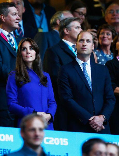 zimbio:  British Royals at the Opening Ceremony for the 2015 Rugby World Cup Pool, Twickenham Stadium, London, September 18, 2015-Duke and Duchess of Cambridge