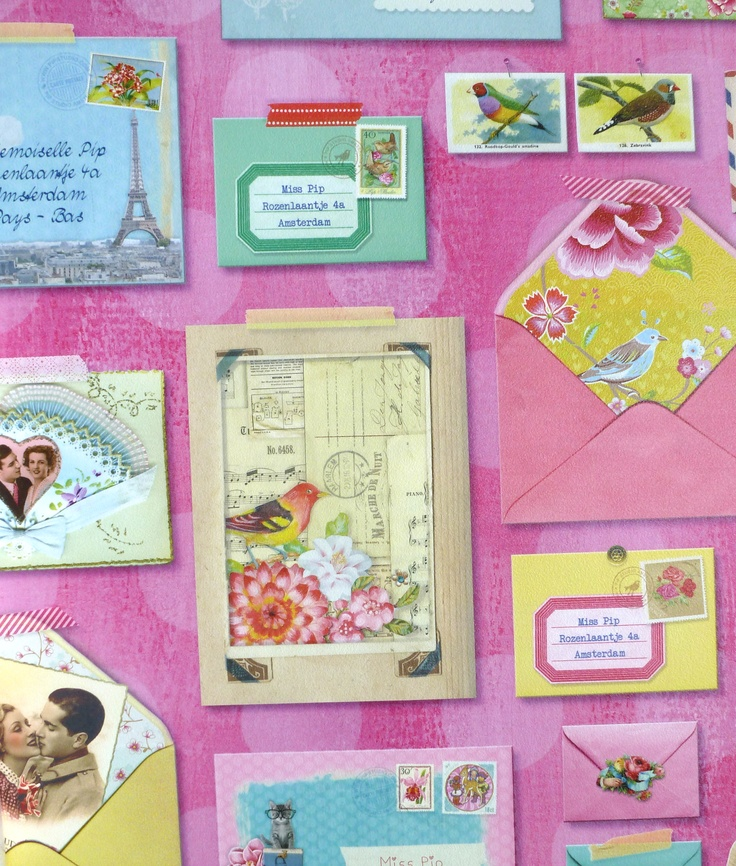 You've got mail wallpaper from Pip Studio.  I love the envelopes and detailing.