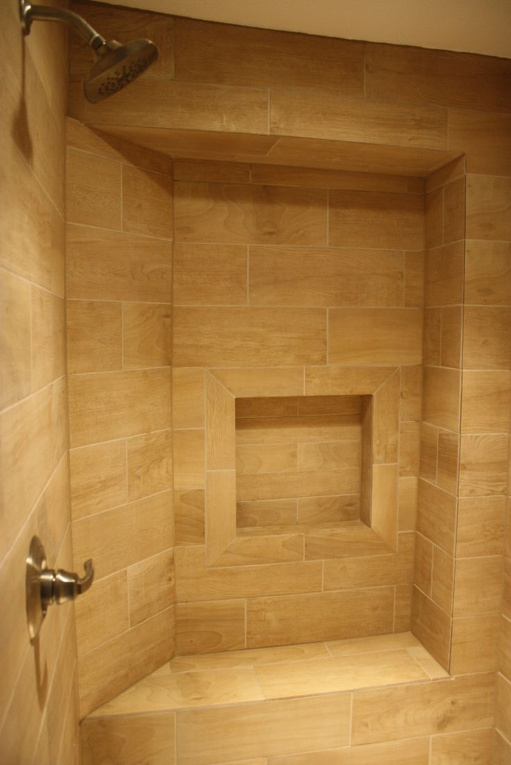 17 best images about wood tile shower on pinterest for Fake hardwood tile