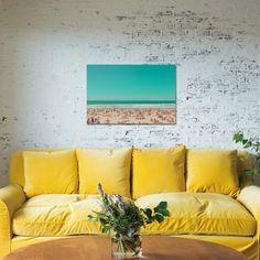 Sunshine Yellow Couch - Vicki Archer //  https://www.instagram.com/vickiarcher/