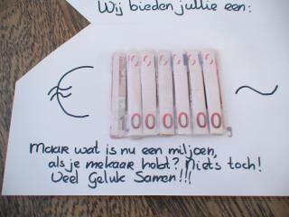 Origineel geldkadootje | trouwshop.com