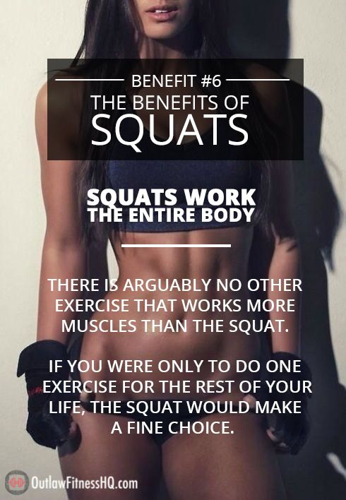 The Benefits of Squats - #6: Squats work the entire body.