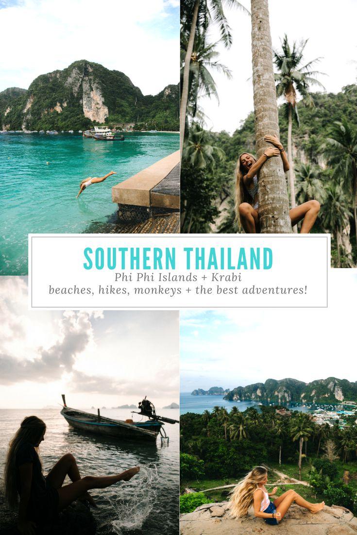 SOUTHERN THAILAND TRAVEL GUIDE - Phi Phi Islands, Krabi, Ao Nang, Railay Beach, Tubkaek - beaches, hikes, monkeys + more https://ourgoodadventure.com/2017/08/thailand/