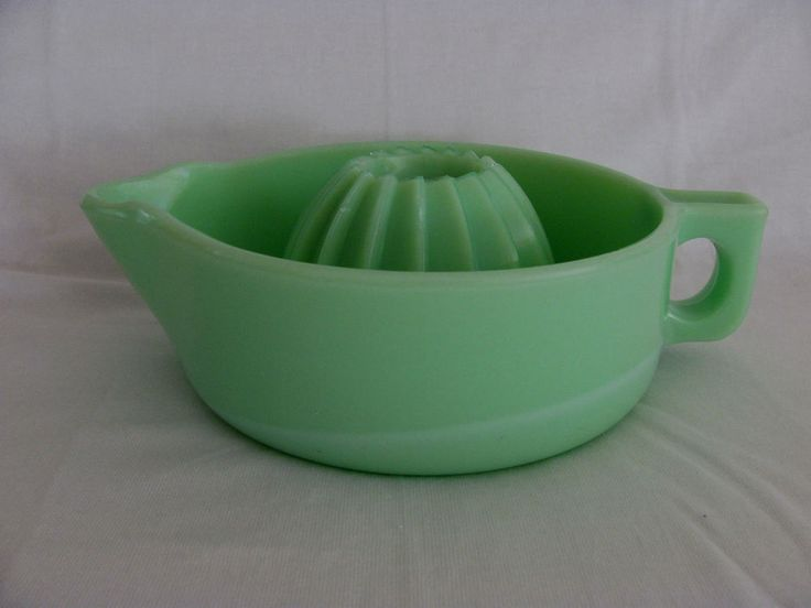 Unique Jadeite/Green Milk Glass Grapefruit Juicer Reamer  | eBay