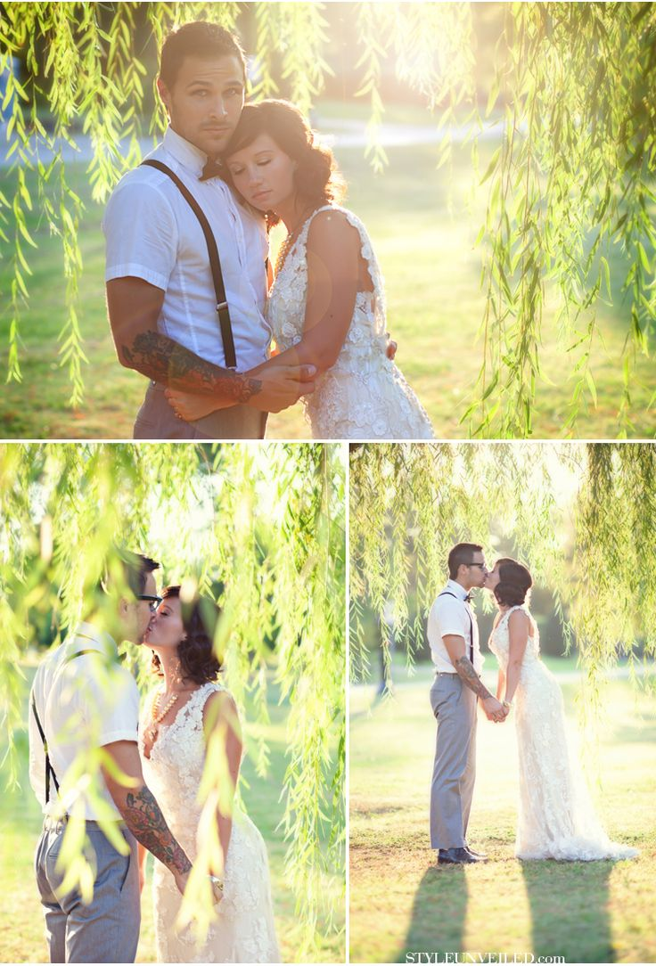 LOVE.Wedding Inspiration, Shabby Chic Wedding, Engagement Photos, Willow Trees, Weeping Willow, Wedding Photos, Engagement Pics, The Dresses, Wedding Pictures