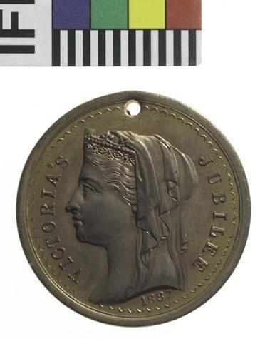 Queen Victoria Jubilee Medal 1887 Maryborough, Victorian Goldfields.