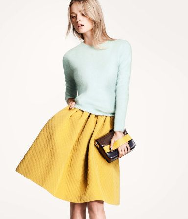 Skirt!: Pastel, Fashion, Style, Dress, Outfit, Yellow Skirts, Color Combination