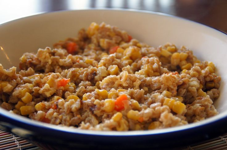 Little Bit of Everything: Sweet Corn, Gouda and Farro Risotto and Celebrating a Blogging Milestone!