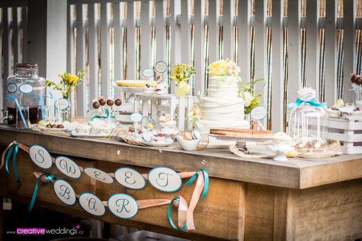 Svatební sweetbar ve spolupráci s Creative Weddings