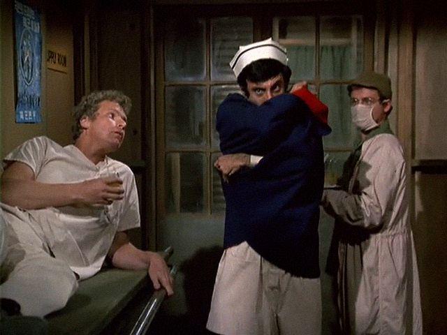 M*A*S*H: Season 3, Episode 5 O.R. (8 Oct. 1974)  Jamie Farr , Corporal Maxwell Q. Klinger,, mash, 4077, Trapper John McIntyre, Wayne Rogers,