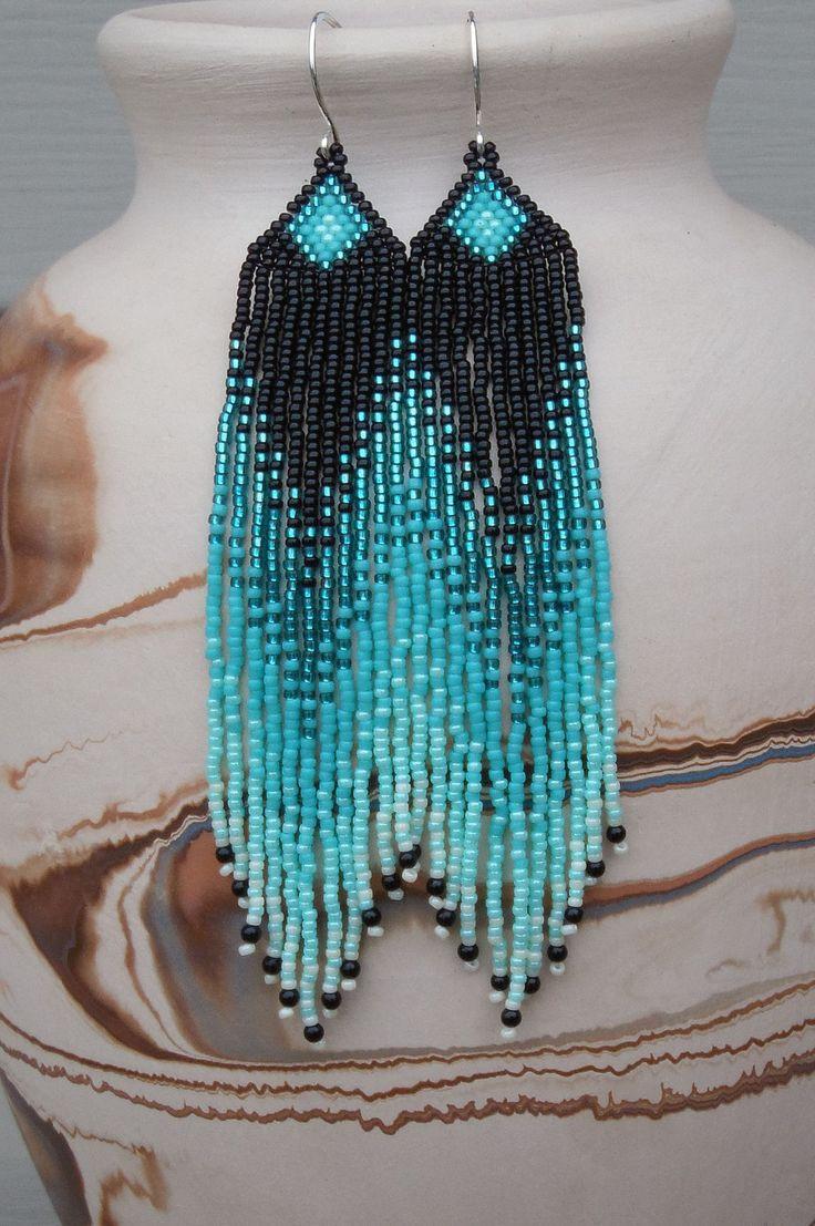Graines longues perles Boucles doreilles  par CreationsbyWhiteWolf