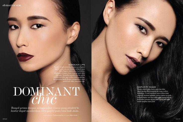 """Dominant Chic"" - January 2015 #ELLE #ELLEIndonesia #beauty #magazine #editorial"
