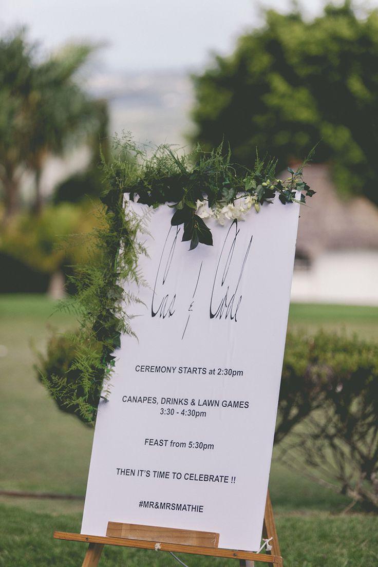 Fresh and Modern Garden Wedding Sign