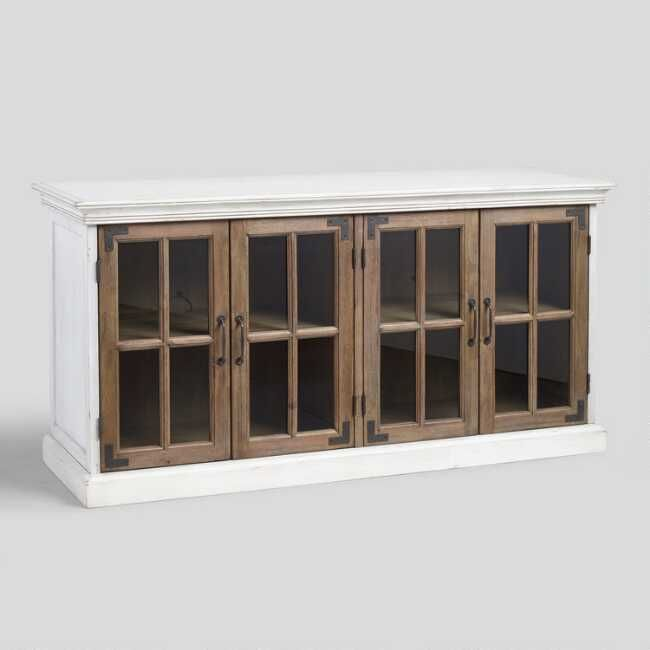 Our Farmhouse Style Cabinet Smartly Utilizes Horizontal Space Making It A Versatile Accent For Farmhouse Storage Cabinets Dining Room Storage Storage Cabinet