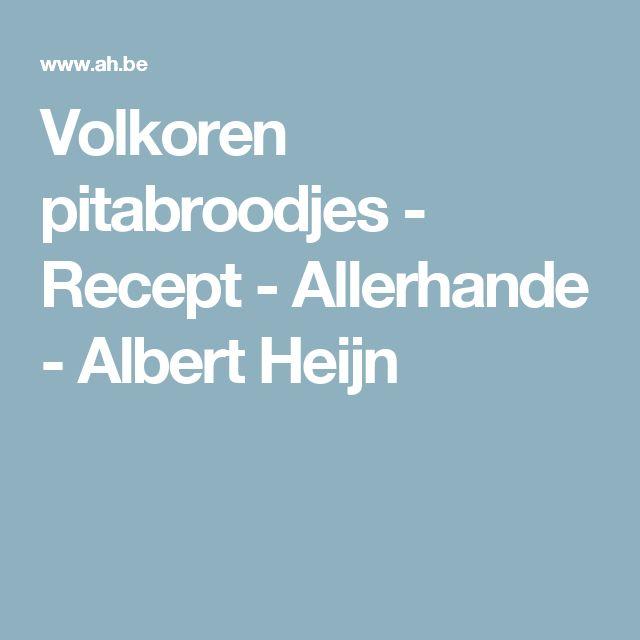 Volkoren pitabroodjes - Recept - Allerhande - Albert Heijn